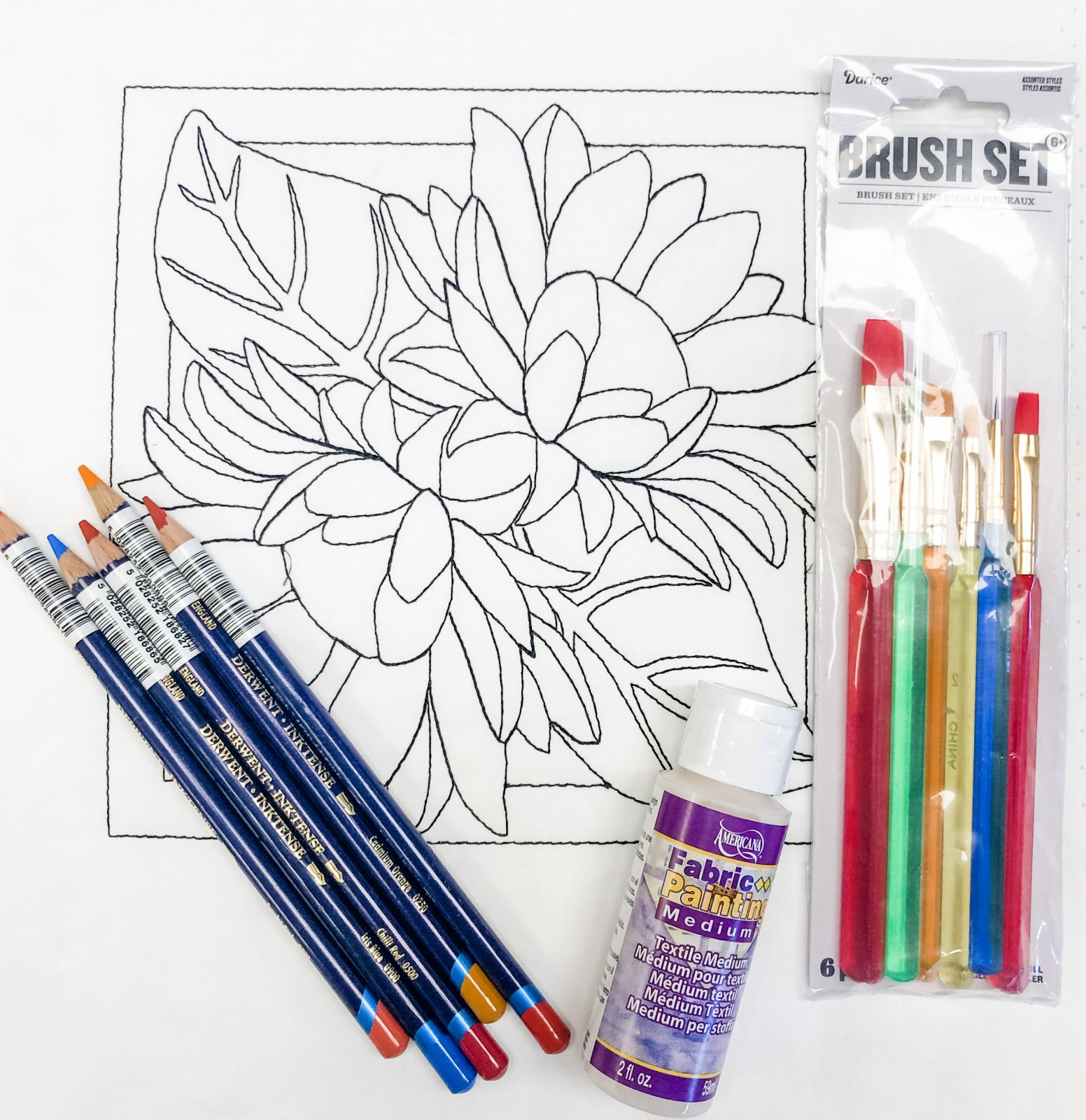 Color Me Quilts- Double Sunflower Block Kit