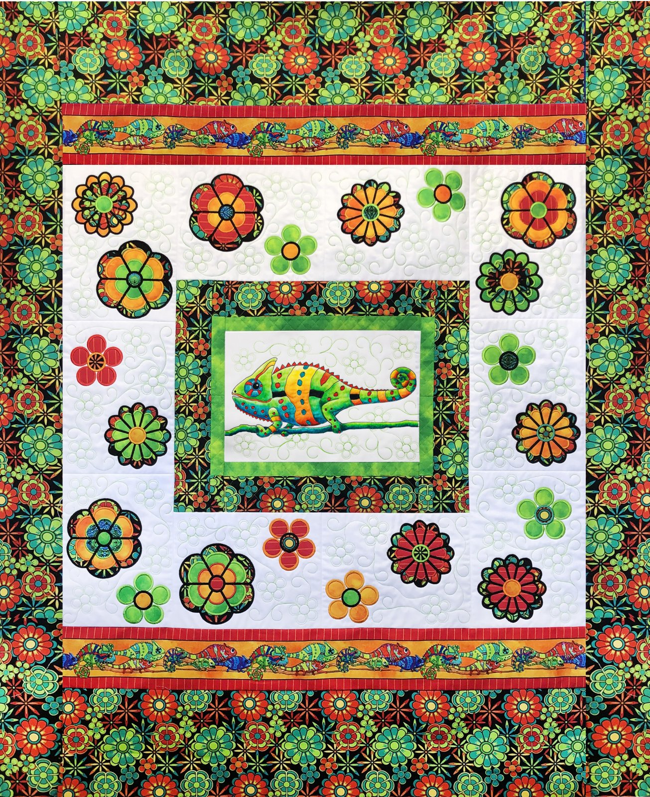 Color Me Quilts- Chameleons ITH Embroidery Download only (GP-112-DDE-E)