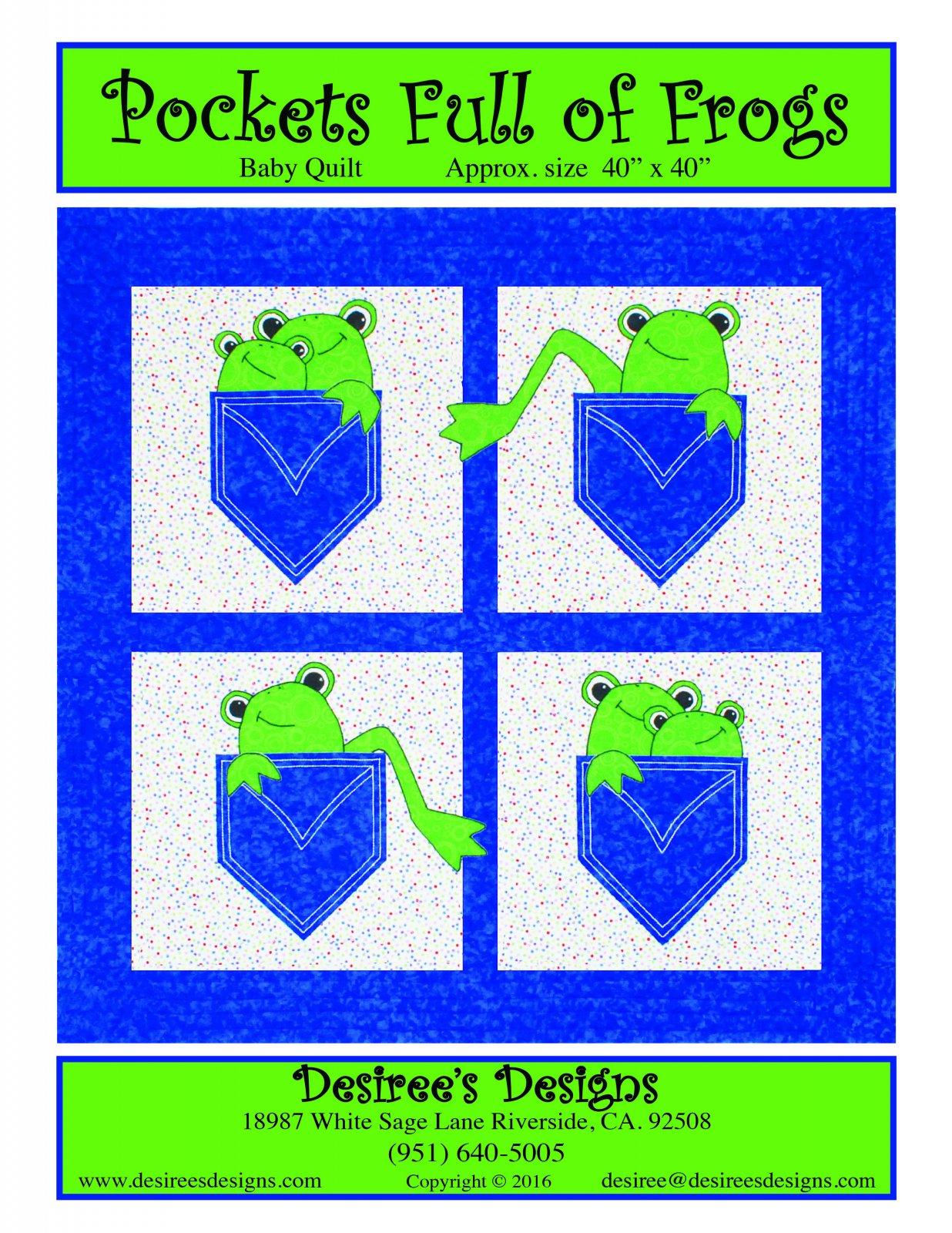 Pockets Full of Frogs E-pattern