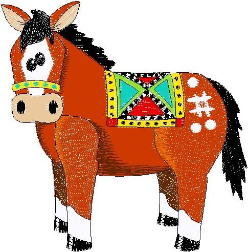 Patchwork Farms Horse Embroidery Download (ED-03-E9)