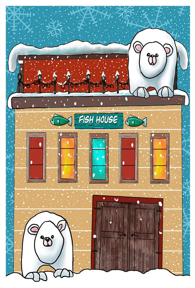 Snow Bear Village Table Runner and Bench Pillow Embroidery CD and Fabric Kit (GP-114-DDE-K)