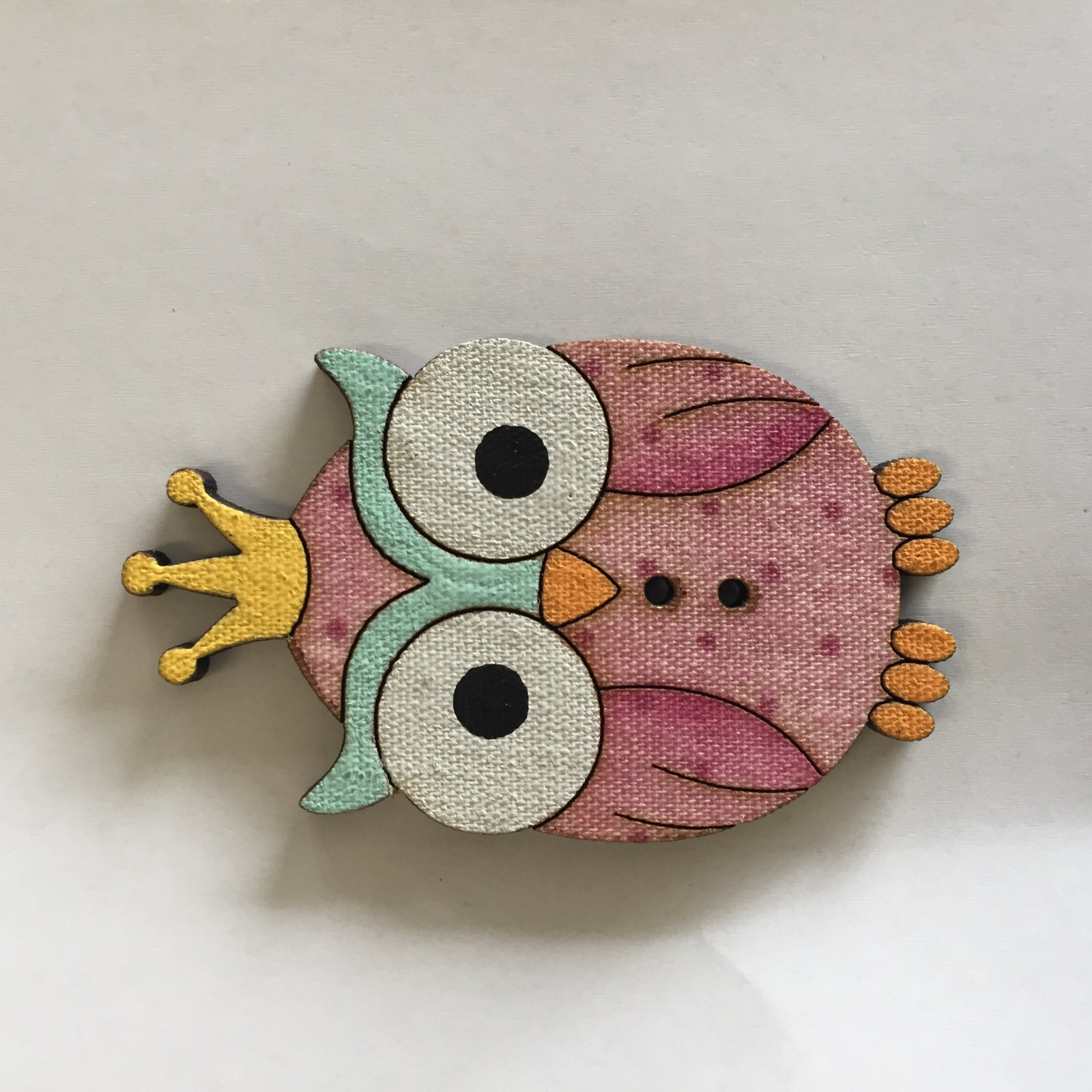 Large Owl with Crown Button  (BP-01O)