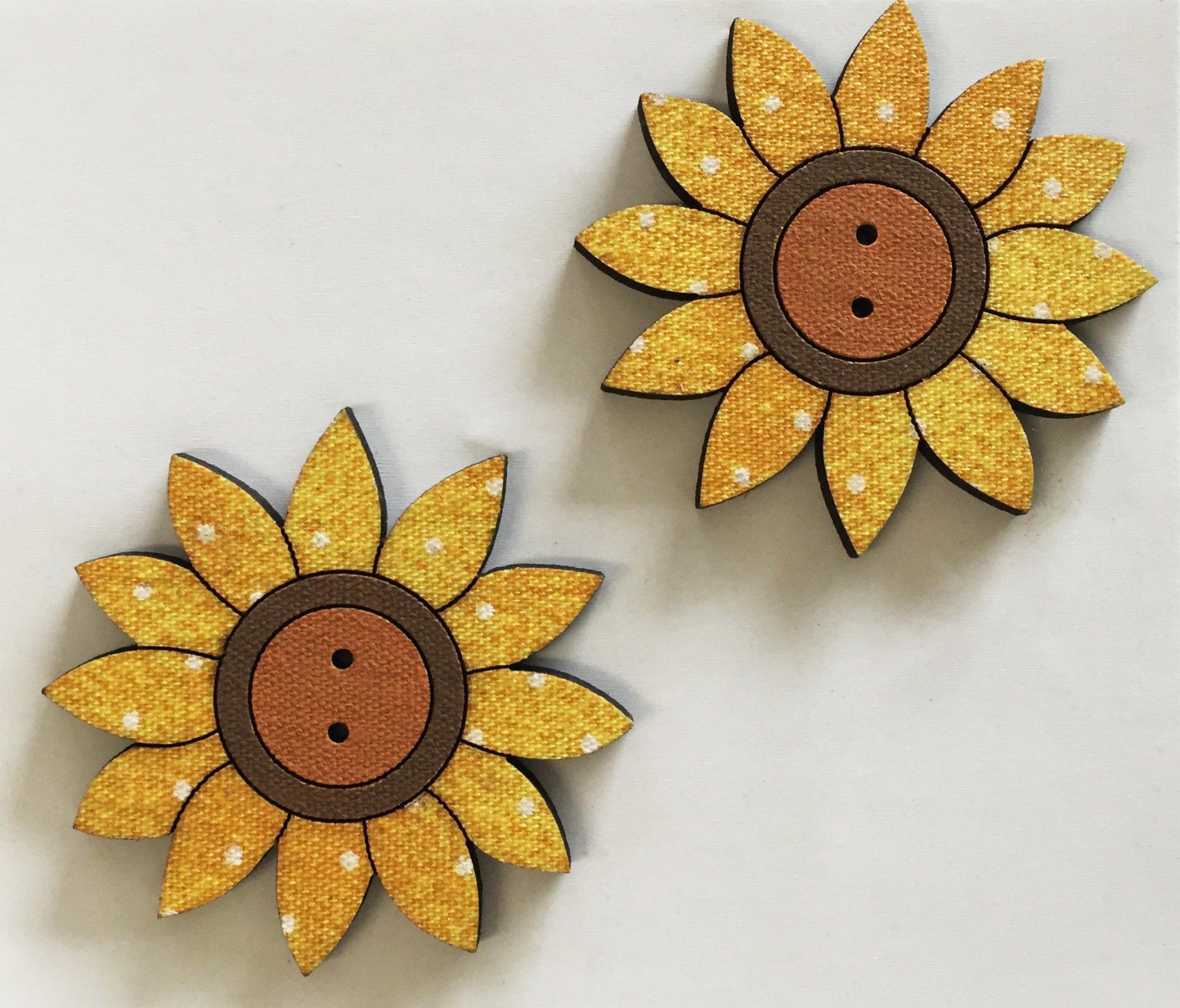 Three Sunflower Buttons  (BP-01SF)
