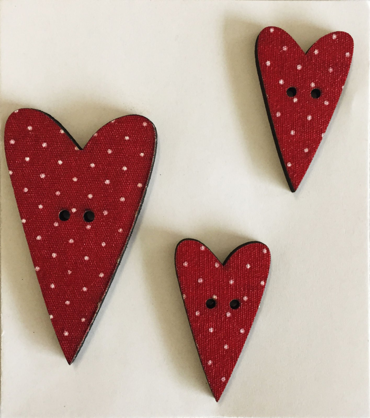 Three spotted Heart Buttons  (BP-01Hs)