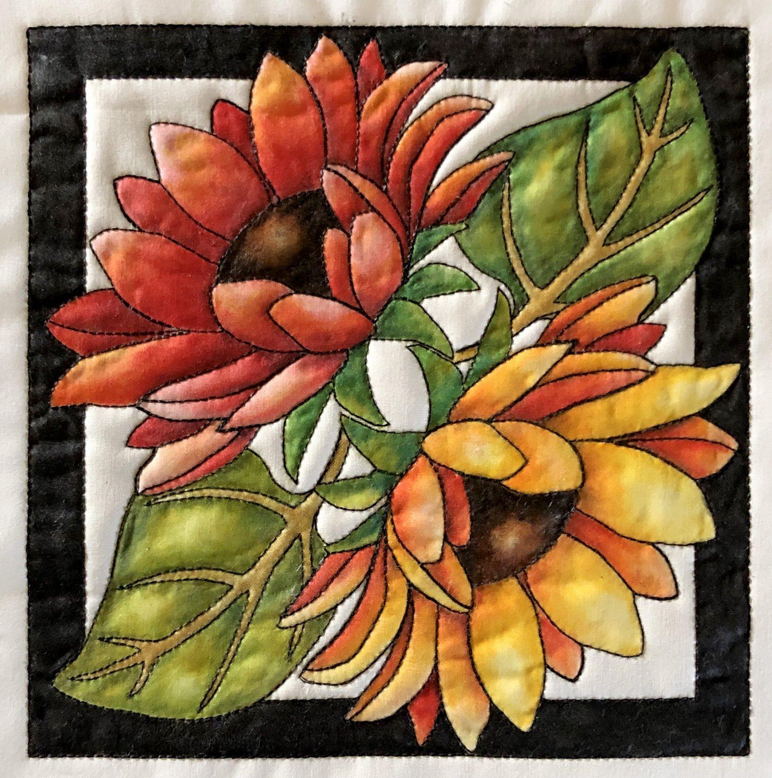 Color Me Quilts- Double Sunflower Block Kit