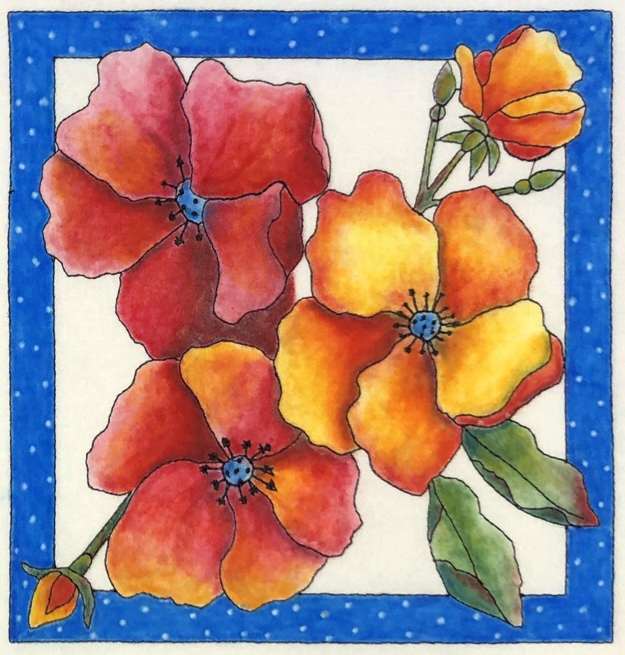 Color Me Quilts- Wild Rose Block Kit