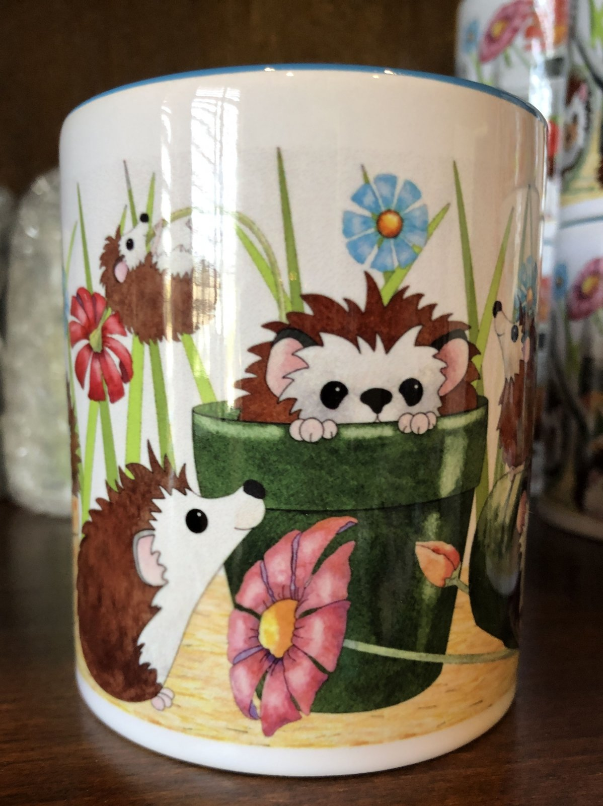 Cookie Time Hedgehog Coffee Cup- ( QA-02H)