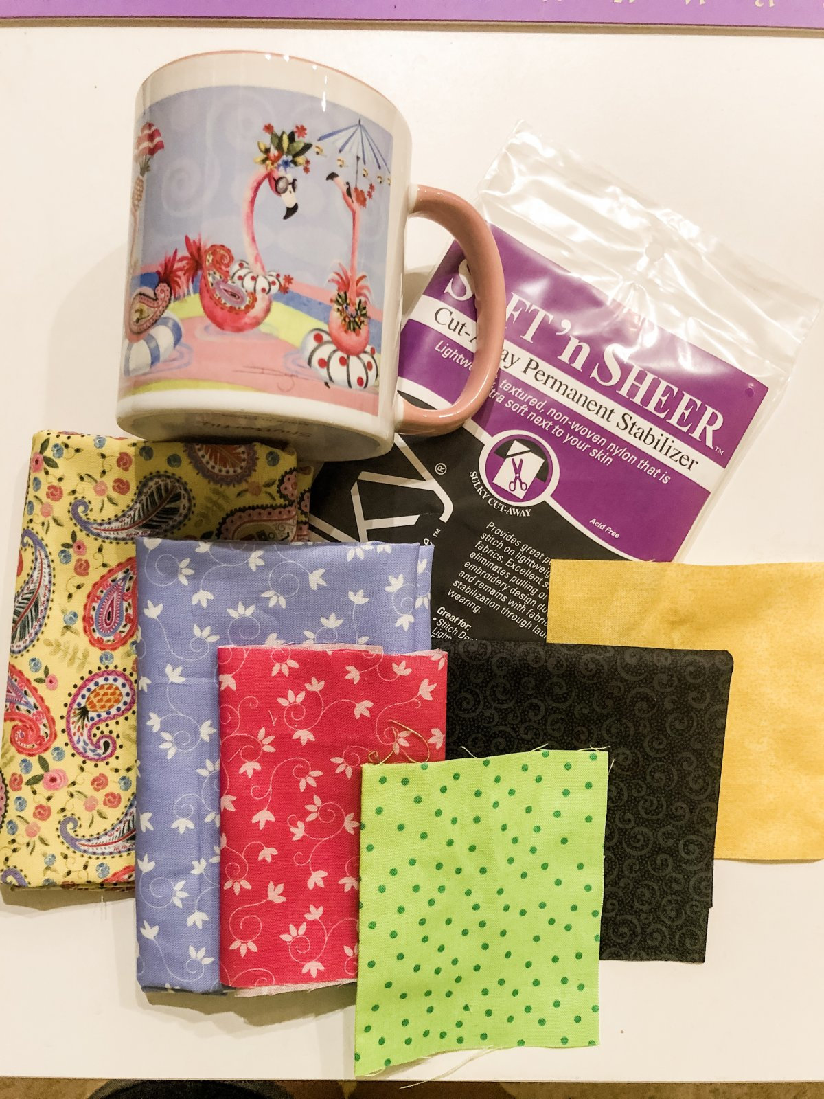 August Let's Go Glamping Mug Rug Kit- FABRIC KIT ONLY- Muggies only