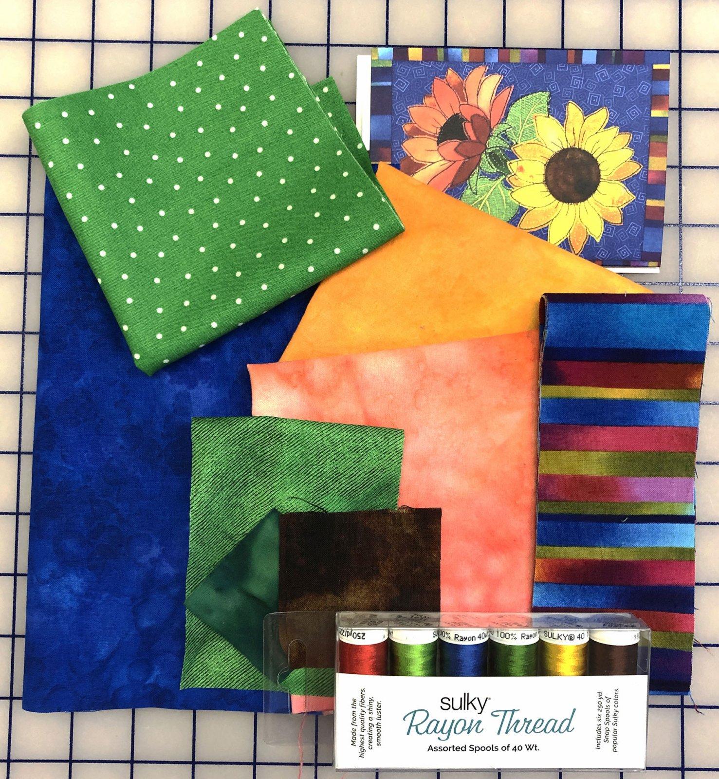 September Sunflower Bouquet Mug Rug Kit- Mug Rug Members only!