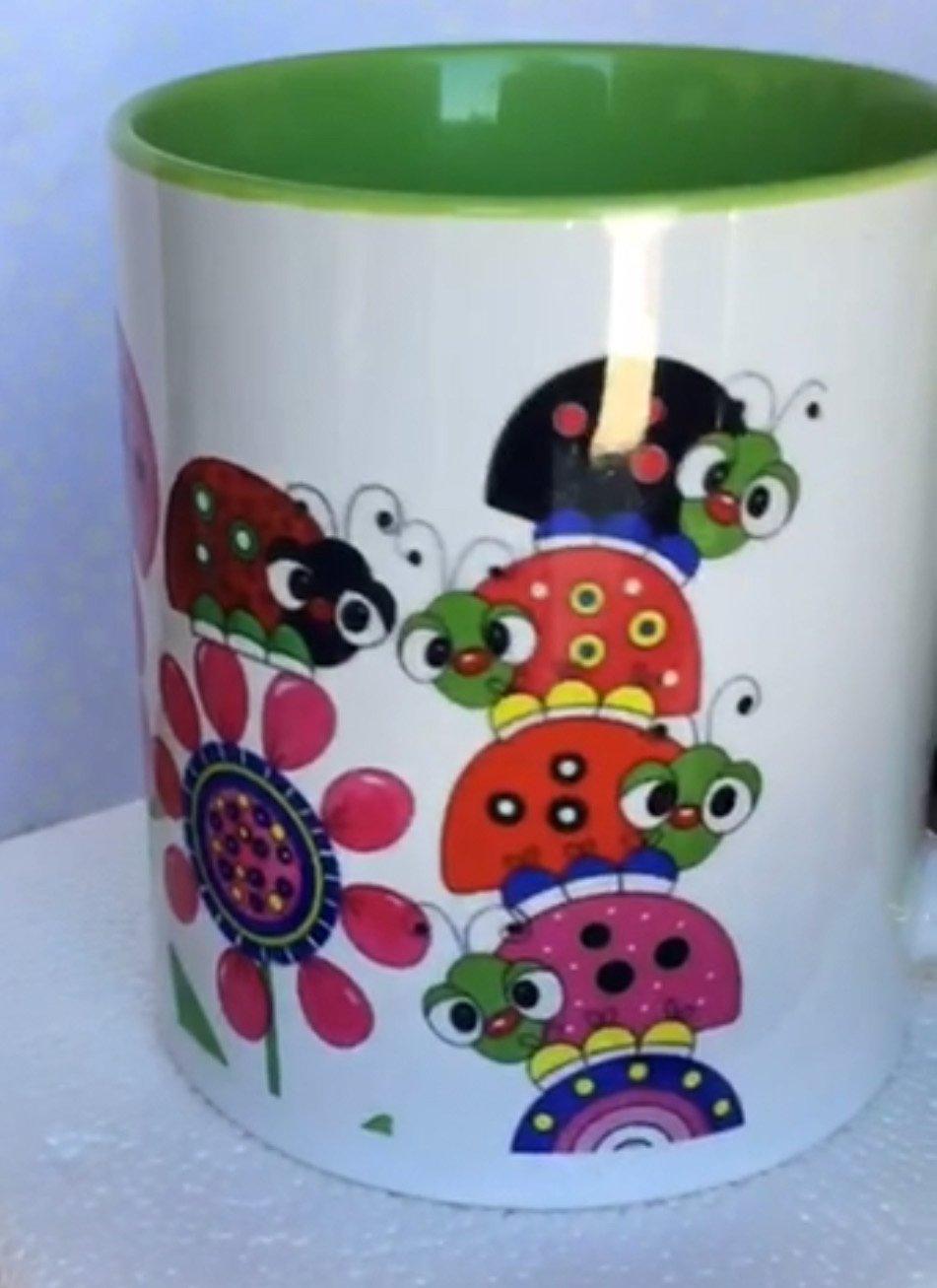 Lazy Little Ladybugs Coffee Cup- ( QA-02L)