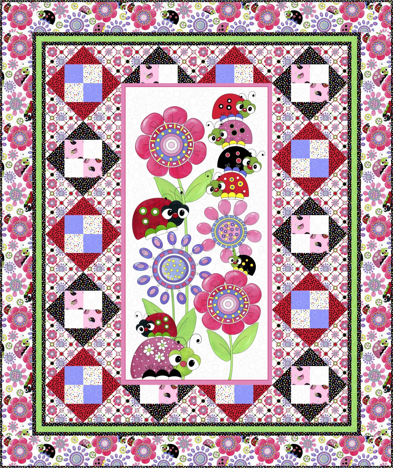 Lazy Little Ladybugs Quilt Project Free Download