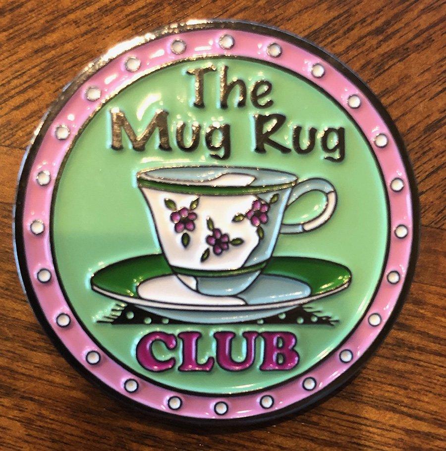 The Mug Rug Lapel Pin (1 1/2x1 1/2)QA-17