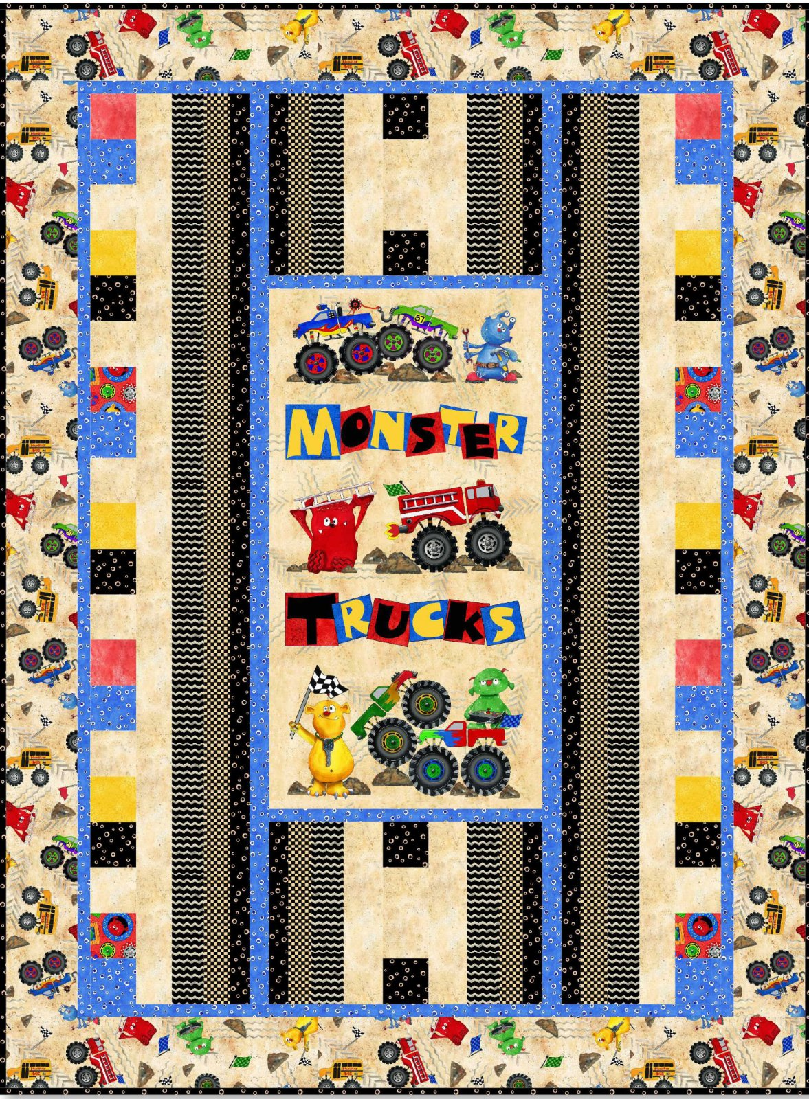 Monster Truck Free Downloadable Quilt Pattern