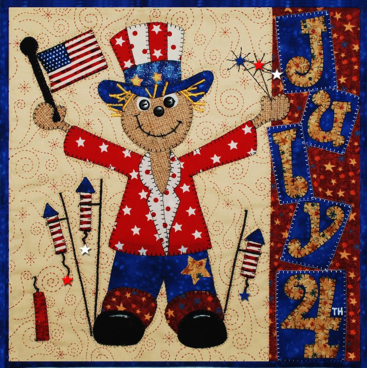Fourth of July-Scarecrow Holiday Series E-Pattern