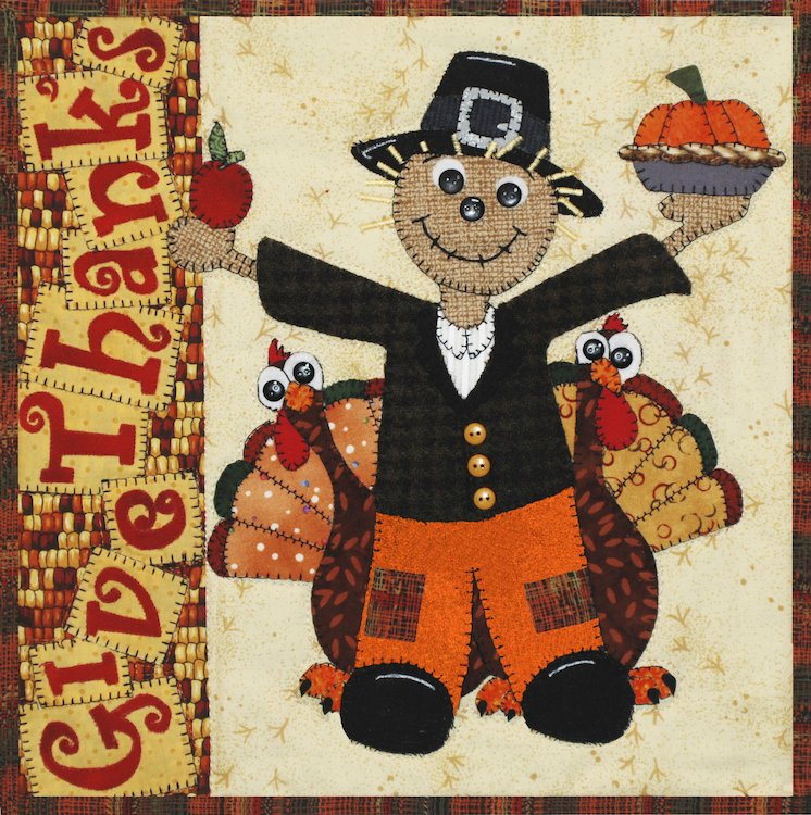 Give Thanks-Scarecrow Holiday Series E-Pattern