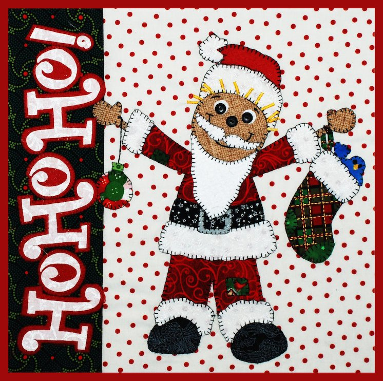 Ho Ho Santa-Scarecrow Holiday Series E-pattern