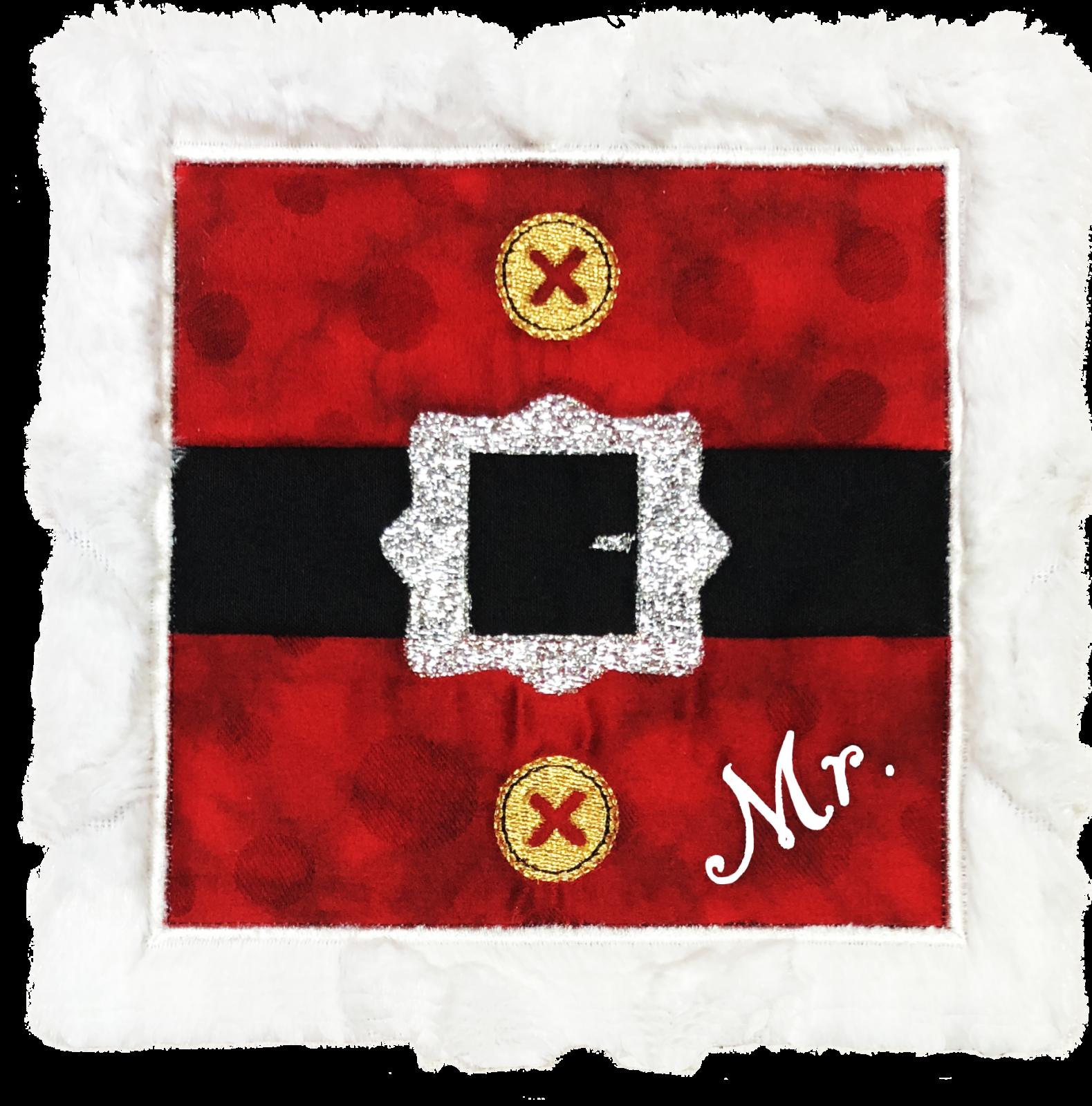 Mr. & Mrs. Santa ITH Mug Rug Download only (MR-106-DDE-E)