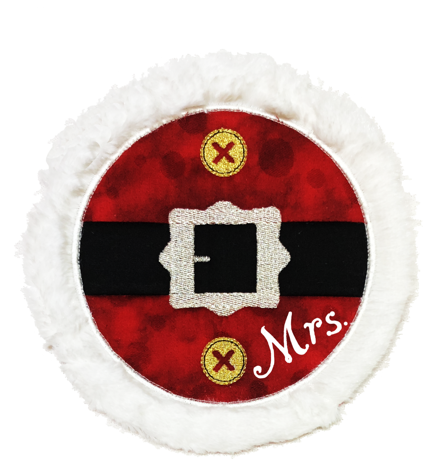 Mr. & Mrs. Santa ITH Mug Rug Embroidery CD (MR-106-DDE)