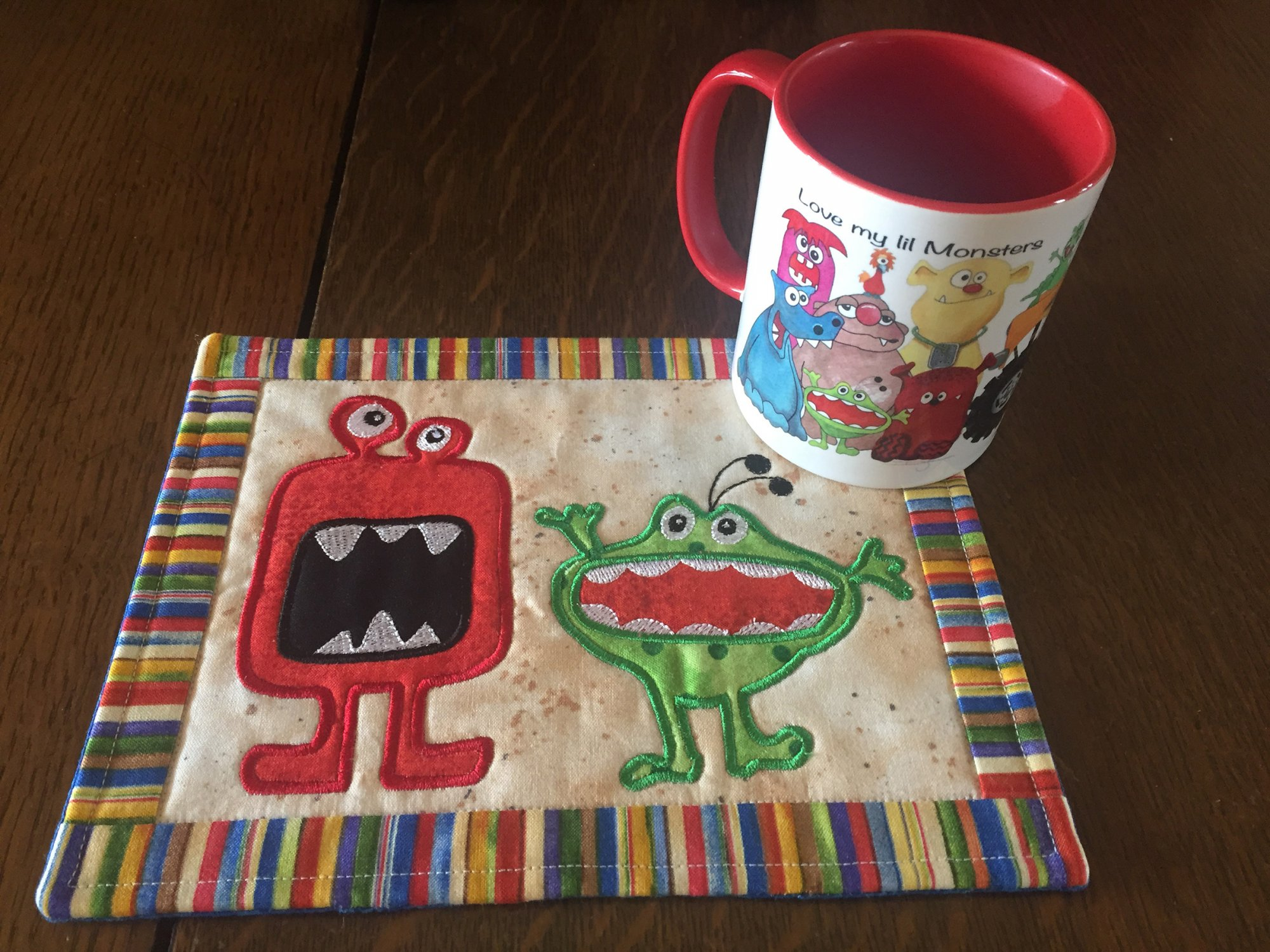 Monster Mug Rug INH Project CD with matching Monster cup