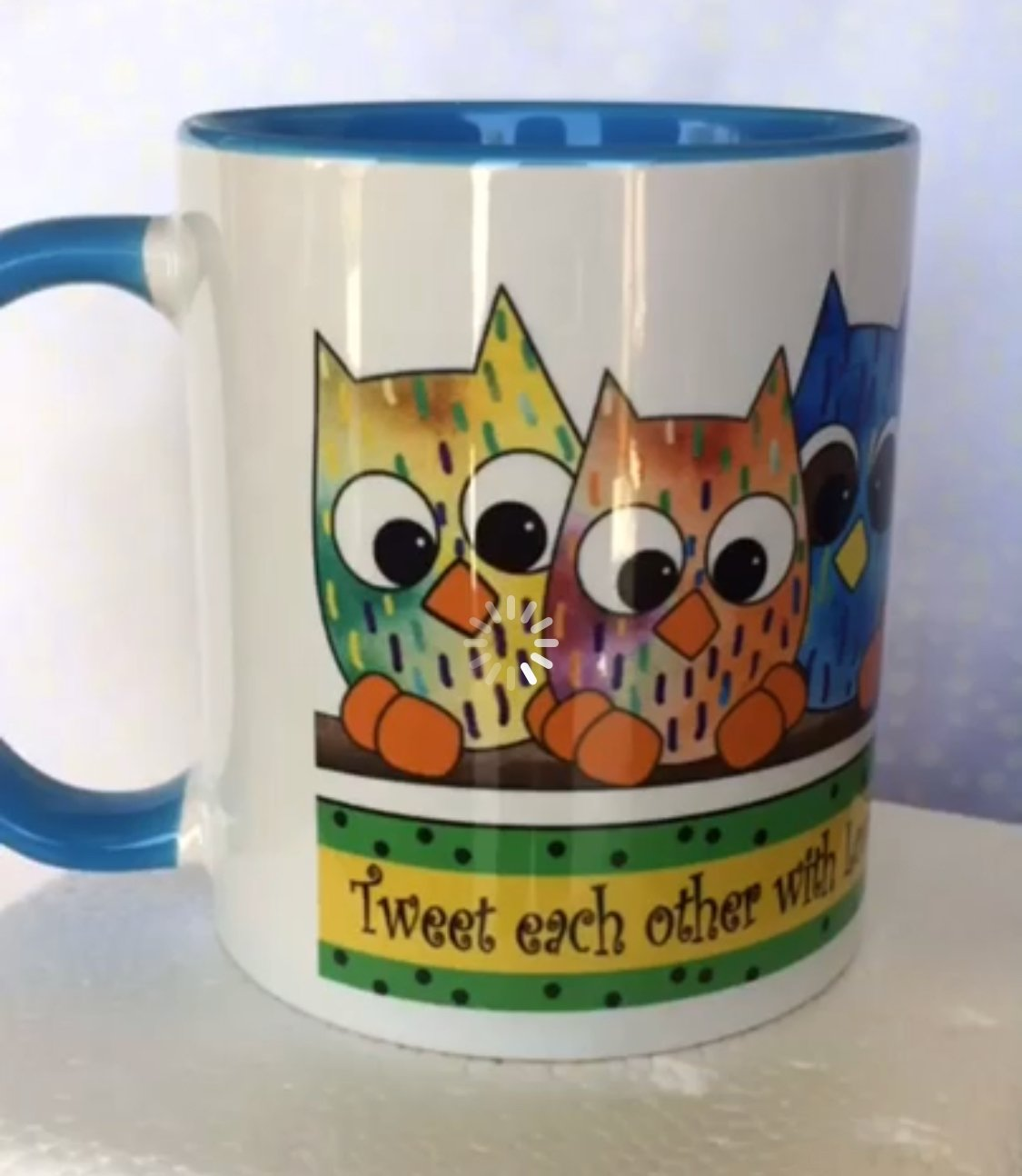 Owl in the Family Coffee Cup-Owls- ( QA-02O)