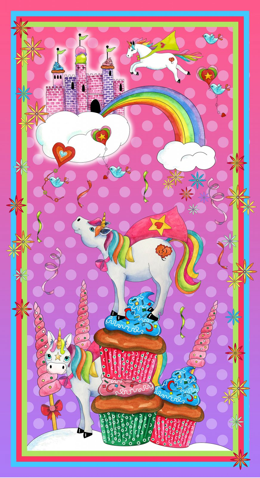Party Like A Unicorn UNICORN PANEL PINK- 26909-P
