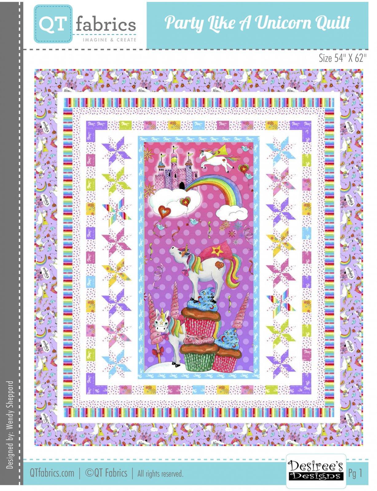 Party Like a Unicorn Free Downloadable Pattern