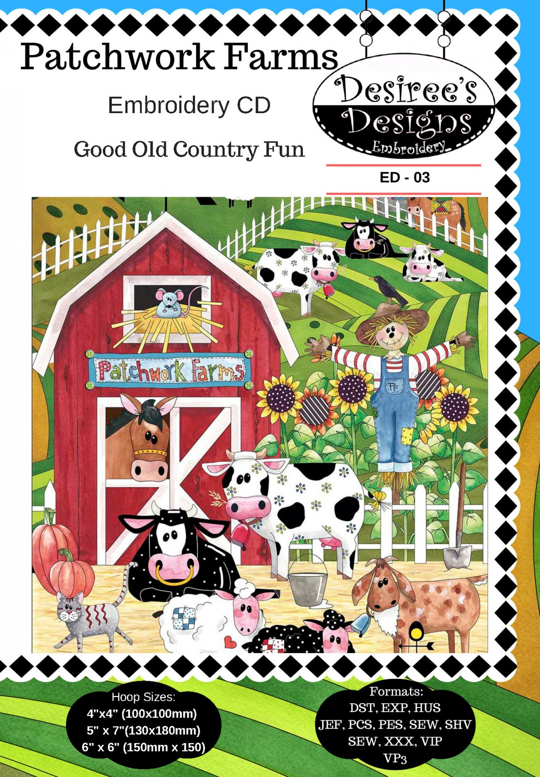 Patchwork Farms Embroidery CD (ED-03)