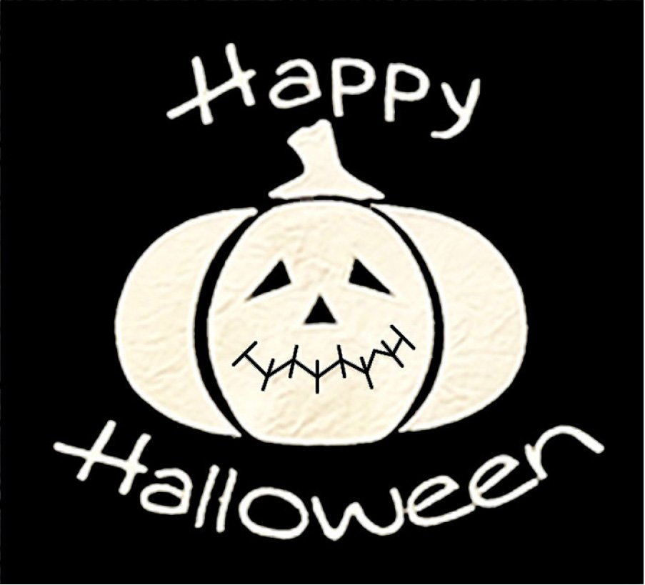 Halloween Pumpkin and Text Downloadable Embroidery Files (HQH-02-E1)