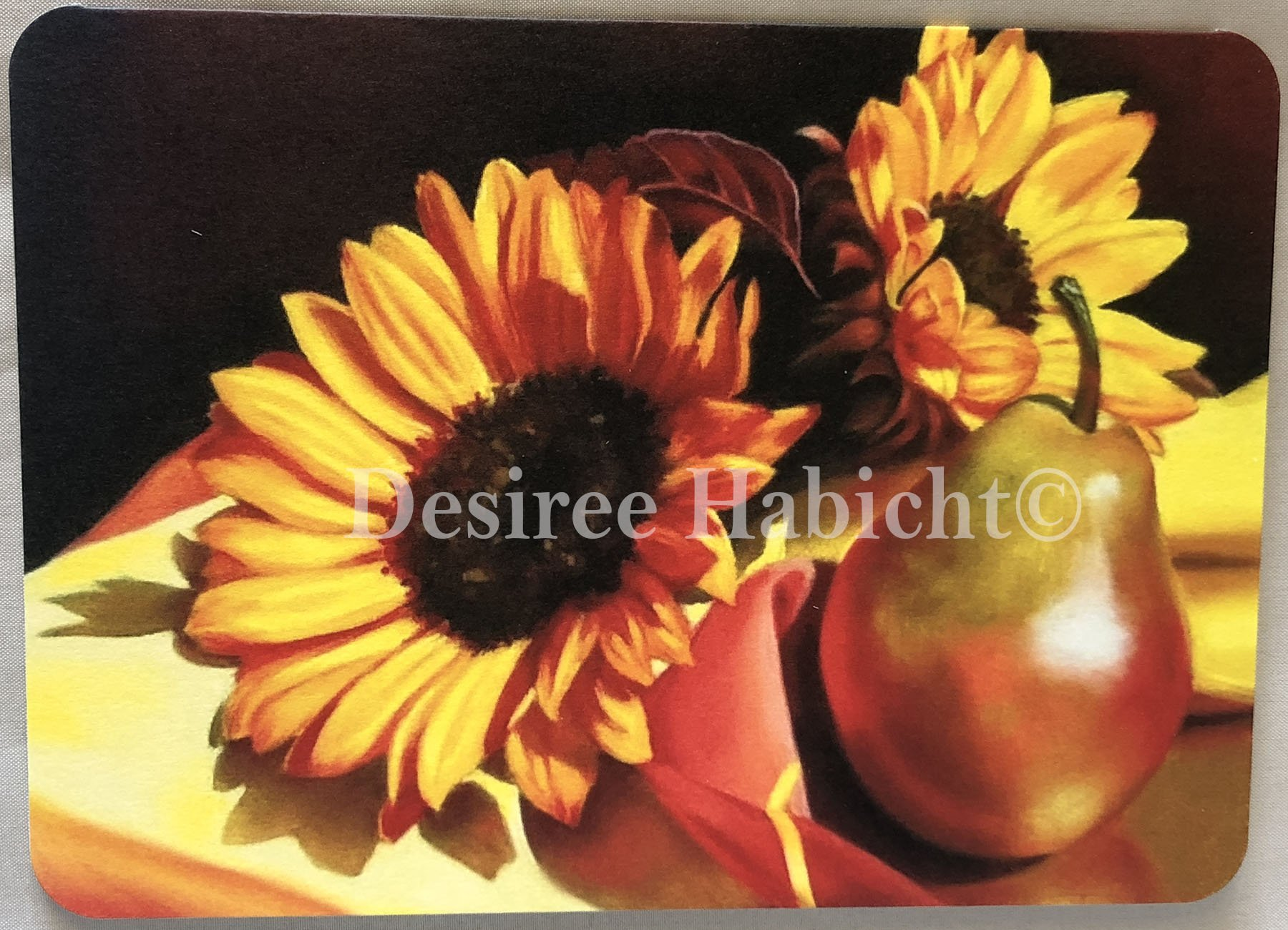 Sunflowers and Pears- 5x7 card (AWC-05-SP)