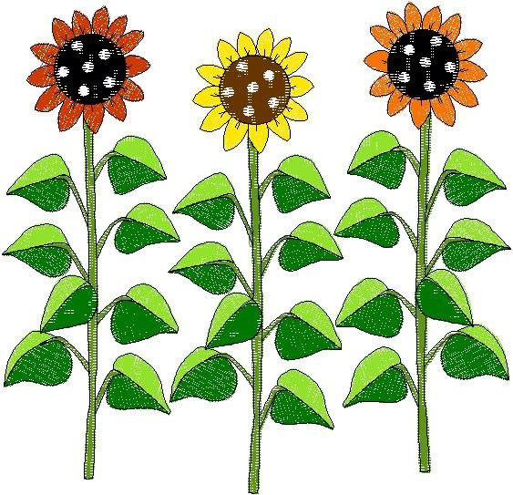 Patchwork Farms Sunflower Group Embroidery Download (ED-03-E15)