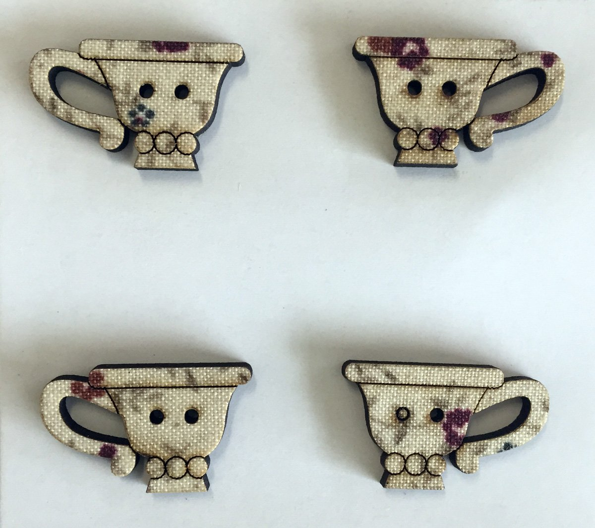 Tea Cup Buttons