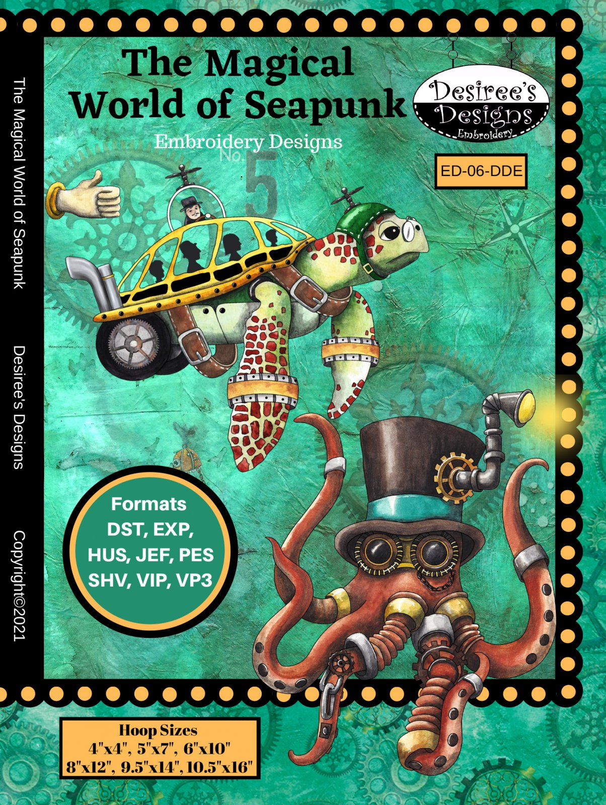 The Magical World of Aquatic Seapunkery Embroidery Download only (ED-06-DDE-E)