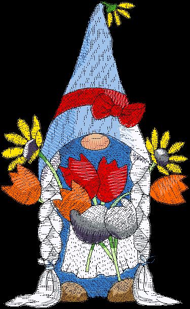 Gnomesville Tulip Girl (ED-04-1-E)