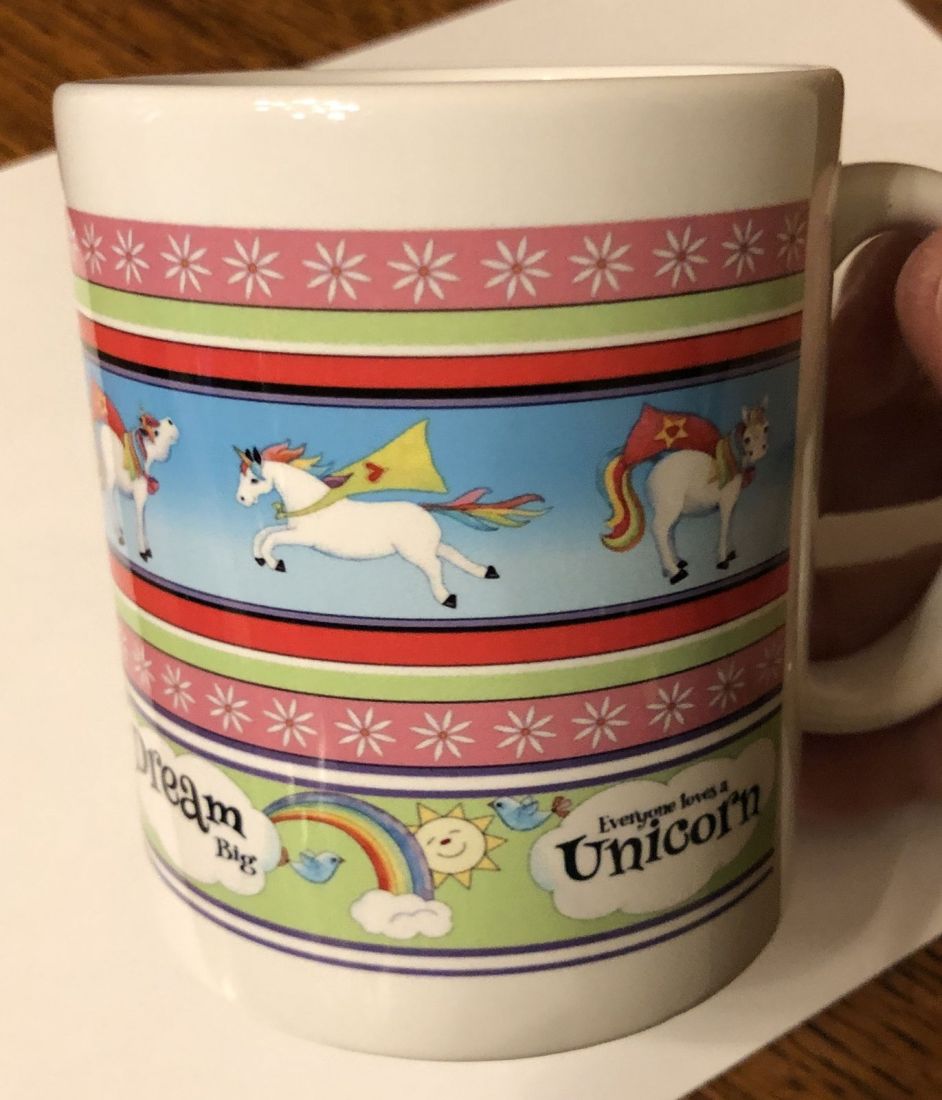 Limited Edition Unicorn Stripe Mug (QA-02US)