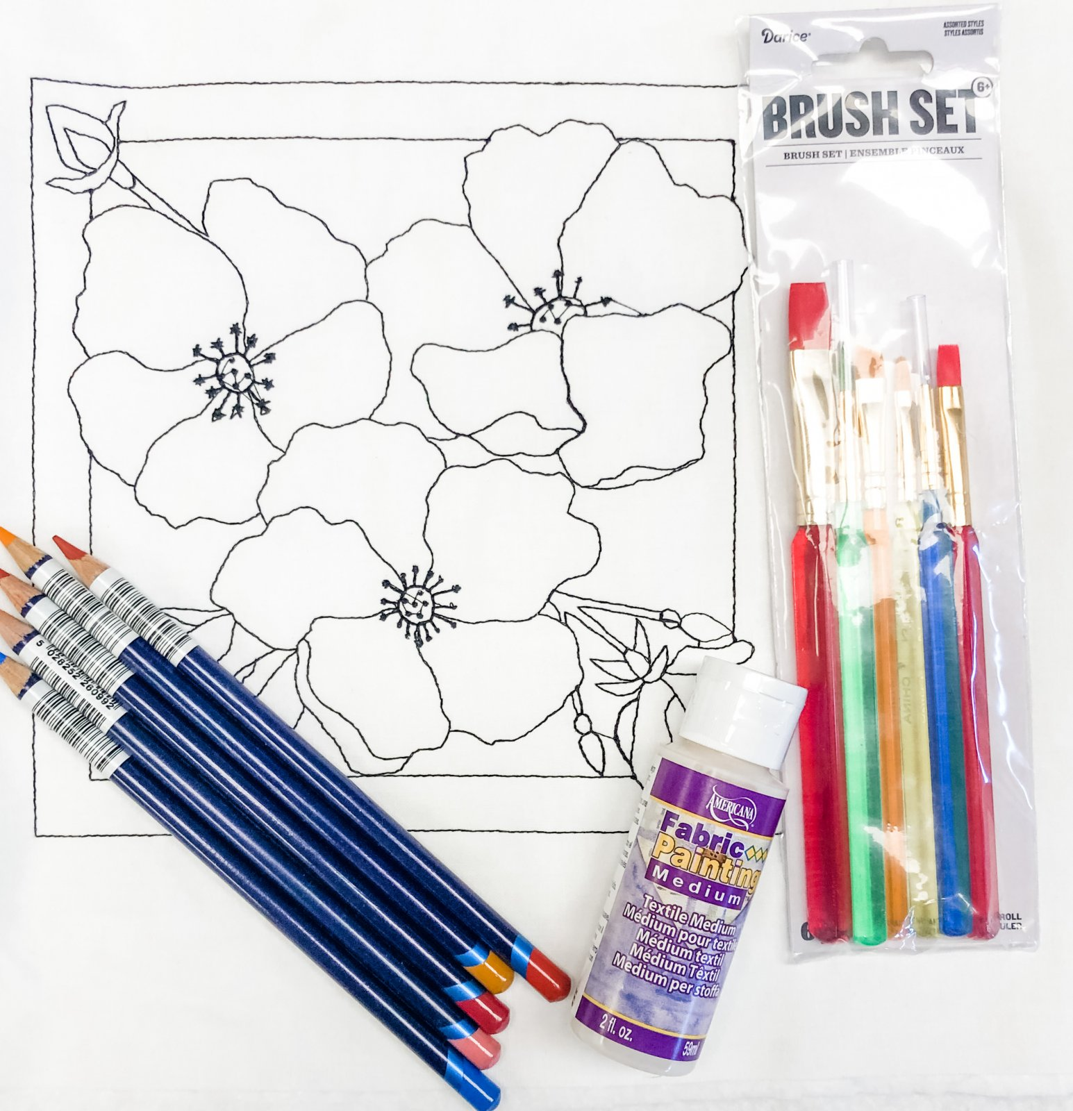 Color Me Quilts- Wild Rose Block Kit