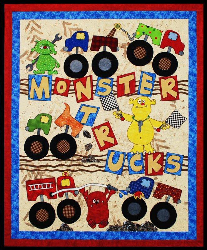 Monster Trucks Quilt Pattern