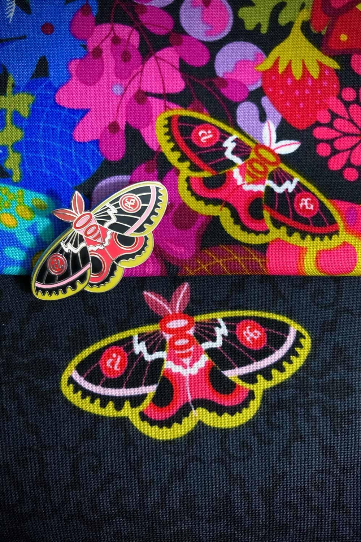 Alison Glass Moth Pin