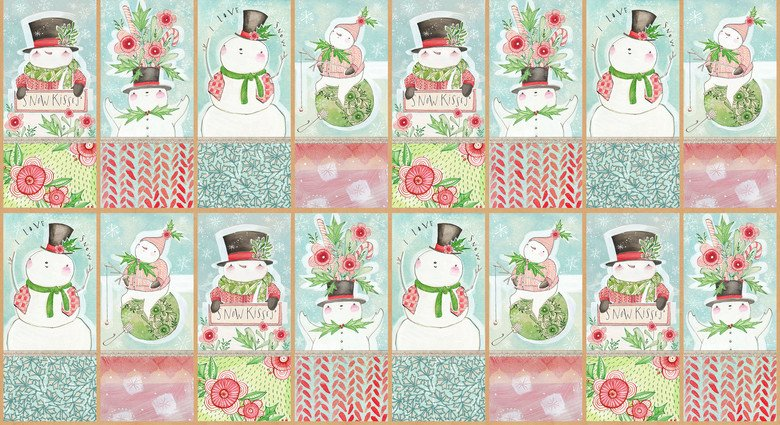 Snow Fun - Snow Cute Panel (24 x 44)