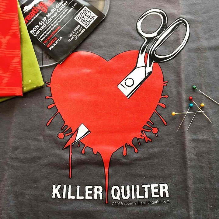 tshirt Killer Quilter Small Gray