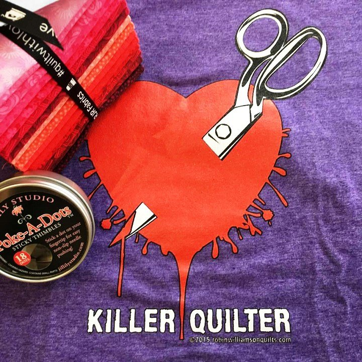 tshirt Killer Quilter Purple Small
