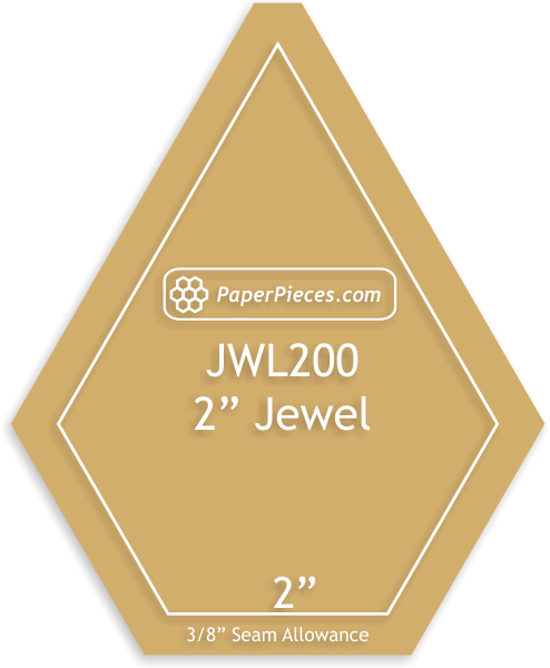 2 Jewel Acrylic Template with 3/8 seam allowance