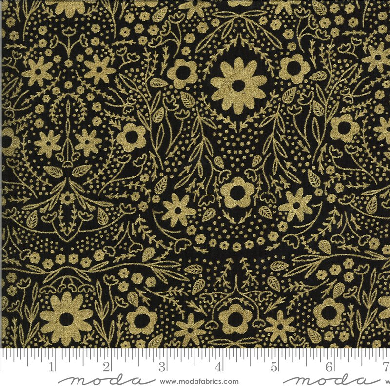 Dwell Possibility - Black, Gold Wildflowers