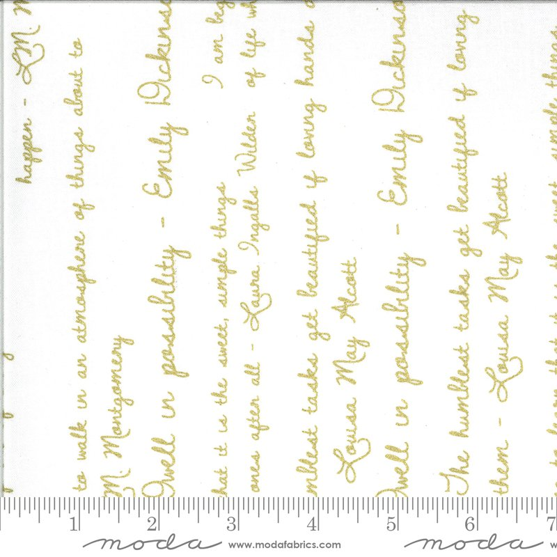 Dwell Possibility - Gold Ivory Script