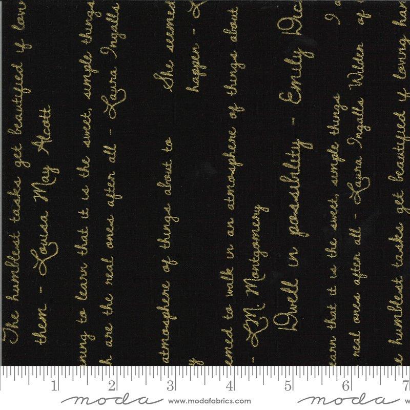 Dwell Possibility - Black, Gold Script