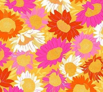 RAYON Flora - Sunflowers Yellow