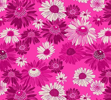 RAYON Flora - Blooms Fuchsia