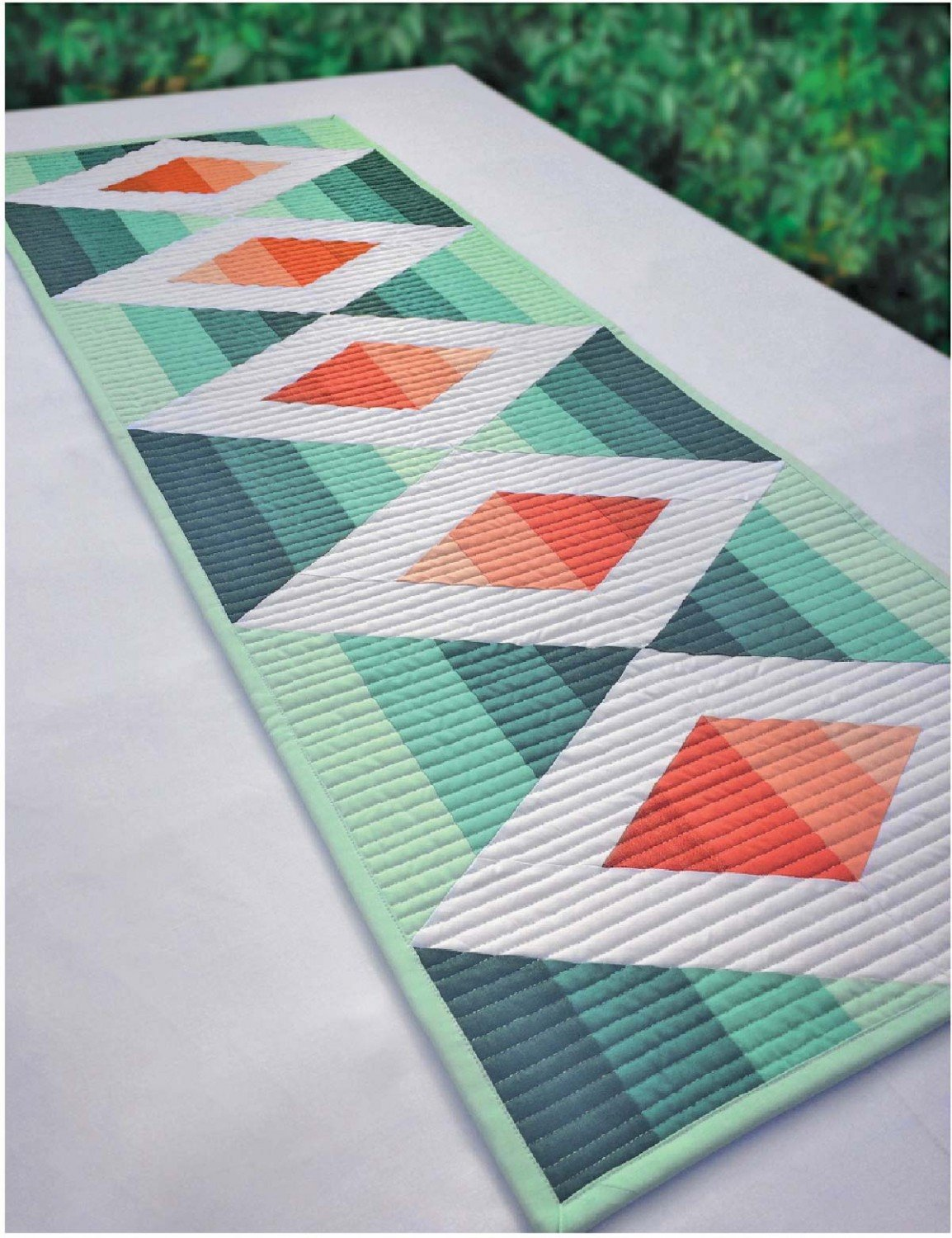Cut Loose Press - Aztec Diamond Table Runner Pattern