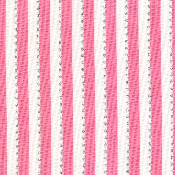 Anthology BeColourful Stripe- Pink/White Metallic