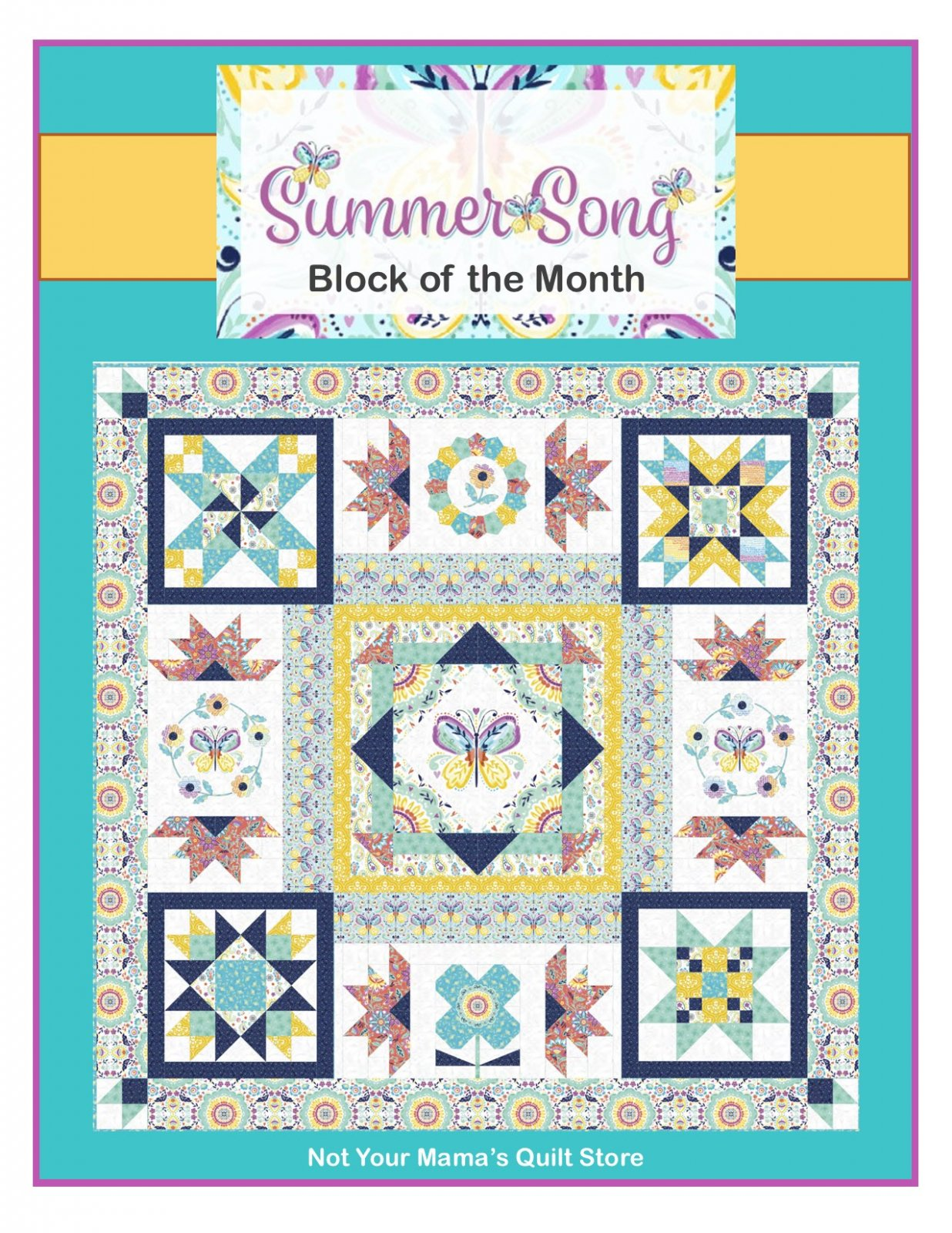 Summer Song Block of the Month - REGISTRATION ONLY