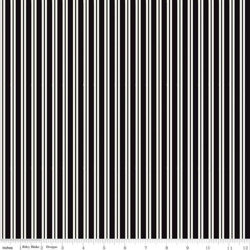 Spooky Hollow - Stripes Black